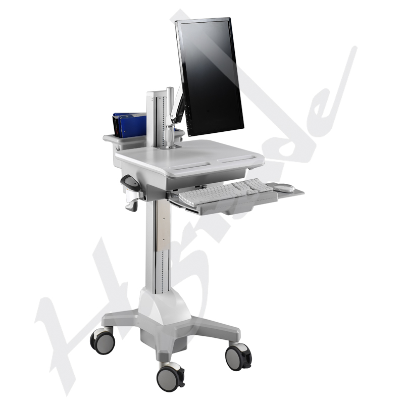 Mobile Computing Trolley Cart for HealthCare IT - Single Monitor with Interactive Arm