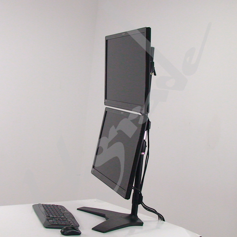 Dual LCD Monitor Stand - vertical with vesa 200 x100