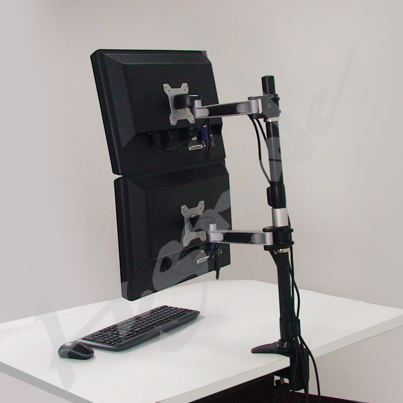 Multi Mounts - Dual LCD Monitor Stand - Clamp Base