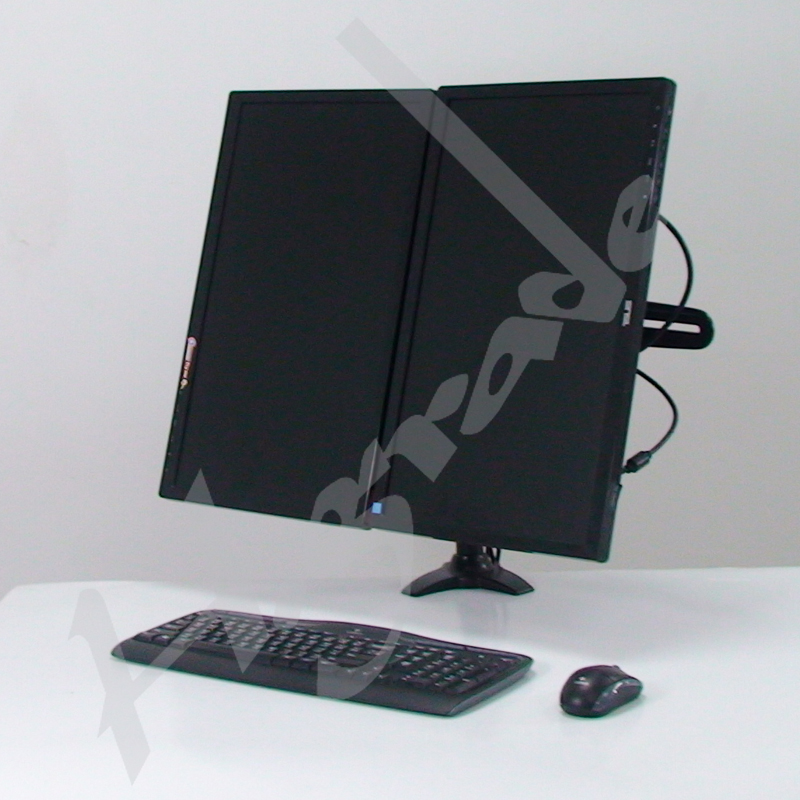 Multi Mounts - Dual LCD Monitor Mount - Clamp Base
