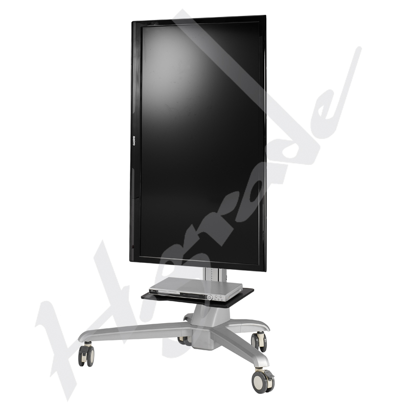Conference Mobile Display Trolley Cart with Document Basket Handle and Tray CT860
