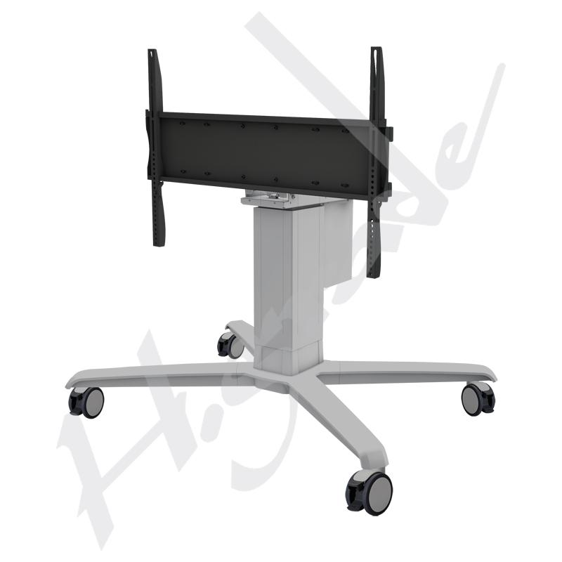 大判のe接触相互表示のためのモーターを備えられた(電気)リフトそして平らな台紙が付いている移動式トロリーカート